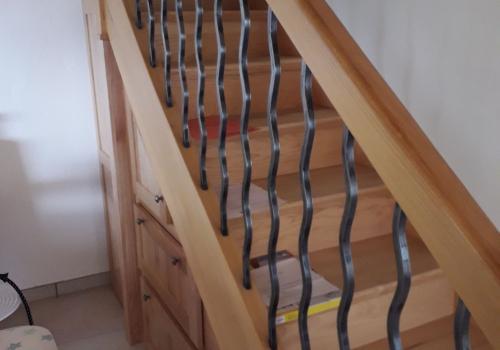 Escalier barreaudage métallique
